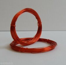 0.6 mm (22 gauge) ORANGE / TANGERINE CRAFT WIRE 10 metres