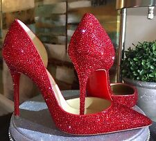 Christian Louboutin Swarovski Strass Service Pigalle So Kate Daffodile 36 37 38