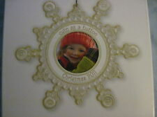 2011 Hallmark CUTE AS A BUTTON Photo Holder Ornament CHILD BABY Picture Frame