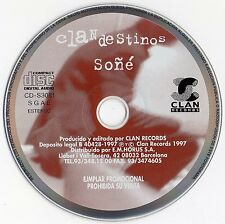 "CLANDESTINOS & MANOLO GARCIA / ULTIMO DE LA FILA ""SOÑE"" SPANISH PROMO CD SINGLE"