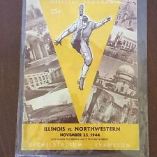 1944 Illinois Vs Northwestern Football Game  Program