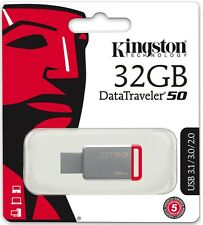Kingston 32GB USB DataTraveler 50 32G USB 3.1 Flash Pen Drive DT50/32GB Retail