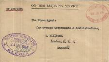Gambia OFFICIAL-Department of Agriculture- BATHURST 24/DE/64 Air Mail to England