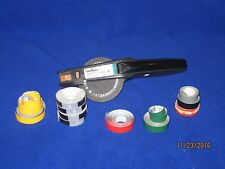 "DYMO LABEL MAKER 1540 OFFICE MATE II BLACK 3/8 or 1/2"" labels with Extra Tape"