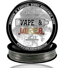 Vape and Wires Round Kanthal Resistance Wire 24 Gauge AWG A1 100ft Roll 0.51mm