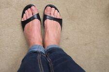 Ted Baker low heel black open toe mules (38)