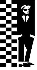 SKA-2 TONE - RUDE BOY-MOD-SKINS.CAR WINDOW STICKER