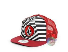 NEW Volcom Red Print Coast Cheese Snapback Trucker Cap Hat