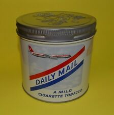 "VINTAGE 1960s "" DAILY MAIL"" CIGARETTE TOBACCO 1/2 LB. TIN CAN SIGN ( NEAR MINT )"