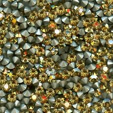 1028 PP24 GSH *** 50 strass Swarovski fond conique 3,1mm CRYSTAL GOLDEN SHINE F