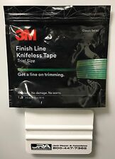 3M FINISH LINE KNIFELESS TAPE FOR VINYL GRAPHICS WRAPS- 10 M ROLL WITH SQUEEGEE