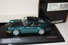 RARE MINICHAMPS PORSCHE 911 (964) TURBO TURKIS METALLIC 1:43 OBSOLETE