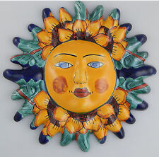 Mexican Talavera  Ceramic Sun Face Wall Decor Hanging Pottery Folk Art  # 12