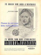 Taschenuhr Vacheron & Constantin Genf XL Reklame 1944 Uhr Christoph Kolumbus