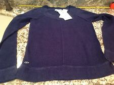 Lacoste  Navy Blue/Indigo Womens Sweater, New With Tags, 100%Linen, Size 0, $185