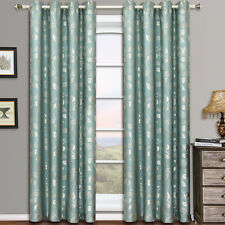 "Charlotte Grommet Jacquard Window Curtains (Set of 2) 104W x 63""L 100% polyester"