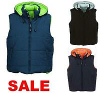*HEAVY DUTY* QUILTED MENS PADDED GILET BODYWARMER SLEEVELESS WORK JACKET COAT