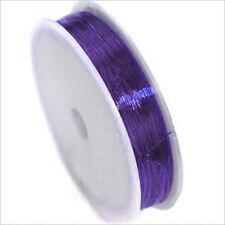 Fil de Nylon Elastique 0,8mm – 20m Indigo Violet pour création de bijoux