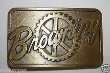 Vintage 1979 BROWNING Power Transmissions Belt Buckle Rare MINTY