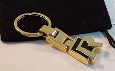 24ct GOLD PLATED VW R-LINE KEYRING 24K GOLF SCIROCCO TOUAREG TIGUAN PASSAT 'R'