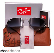 Ray Ban Semi Rimless Aviator Sunglasses SILVER_GRADIENT GREY 3449 003 8G 59mm