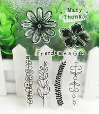 Flower Silicone Rubber Clear Stamp Seal Scrapbooking Diary Christmas Card DIY