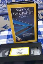 NATIONAL GEOGRAPHIC Nº 2 , EL MUNDO INVISIBLE - VIDEO VHS -
