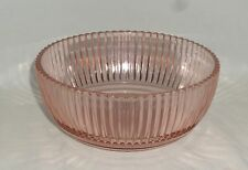 "Anchor Hocking QUEEN MARY PINK *7 1/4"" SALAD BOWL*"