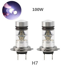 1X 100W H7 CREE LED Fog DRL Driving Car Head Light Lamp Bulbs White Super Bright