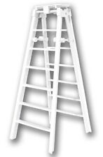 "6"" WHITE FOLDING LADDER - Wrestling Figure Accessories (NEW) WWE/TNA"