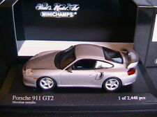 PORSCHE 911 GT2 2001 MERIDIAN METALLIC MINICHAMPS 430060125 1/43 GREY METAL