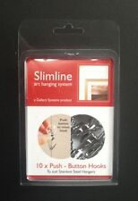 Push Button Hooks - Slimline Art System-Picture Hanging Systems - GSL.PBHOOP