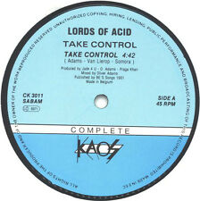 Lords Of Acid – Take Control *** Oldskool - Vinyl - Hardcore - Jungle - Rave ***