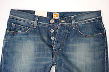 Nuevo-Hugo Boss-w34 l34-Orange 25 Aqua Denim regular straight jeans 34/34