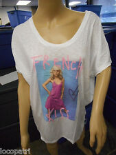 Womens Juniors Junk Food Debbie Harry Blondie French Kiss Loose Fit Shirt New XL