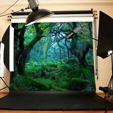5x3FT Jungle Forest Backdrop Studio Green Tree Photography Photo Background Prop