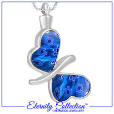 NEW! ECN19 Eternity Collection Cremation Jewellery 'Butterfly Wings' Necklace