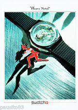 PUBLICITE ADVERTISING 046  1988  la montre Swatch  Heavy Metal