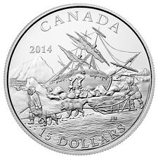 CANADA 2014 $15 FINE SILVER COIN EXPLORING CANADA - THE ARCTIC EXPEDITION