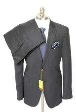 Men's ETRO Gray Striped All Season Wool Slim 2Btn Flat Front Suit 54 6R 44 R NWT