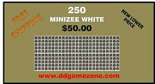 250 Munzee MiniZee QR Code WHITE Generic Stickers FAST FREE SHIPPING