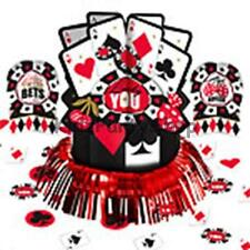 Casino Card Night Party - 20 Piece Table Decorating Kit   - Free Postage in UK