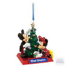 Disney Parks Mickey and Minnie Mouse Holiday Park Ornament - Magic Kingdom