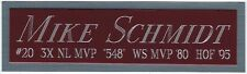 MIKE SCHMIDT Phillies NAMEPLATE AUTOGRAPHED Signed BASEBALL-BAT-CAP-JERSEY-PHOTO