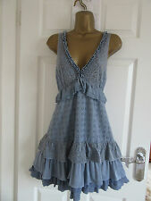 FABULOUS LADIES DRESS BY WAREHOUSE UK-12 IN  BLUE FULLY LINED IN VGC