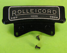Rolleiflex Rolleicord V TLR Camera's Name Plate With Serial Number-Genuine Parts