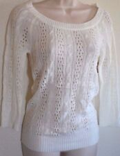 DREAM OUT LOUD by Selena Gomez Knit See-threw Casual Sweater size M White