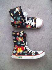 Ladies Black Fruit HaraJuku Lovers Gwen Stefani High Top Sneakers Shoes 37 6
