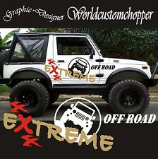 KIT ADESIVI STICKERS FUORISTRADA SUZUKI ADVENTURE EXTREME 4X4 OFF ROAD JEEP