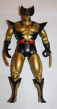 "Wolverine 10"" Gold Action Figure Toy Biz X Men Deluxe Edition 1993 Black Marvel"
